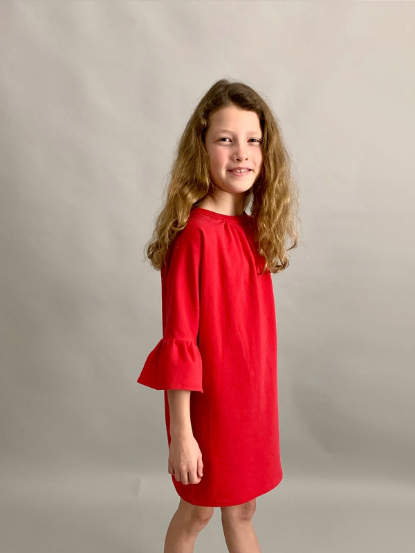 All season dress rood - Dress By Mila